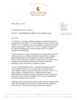 corporate letters optimum reassurance company optimum re inc